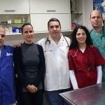 צוות בית החולים הוטרינרי