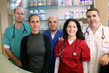 צוות המרפאה בפעולה